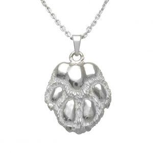 Paw big – dog – silver sterling pendant - 1