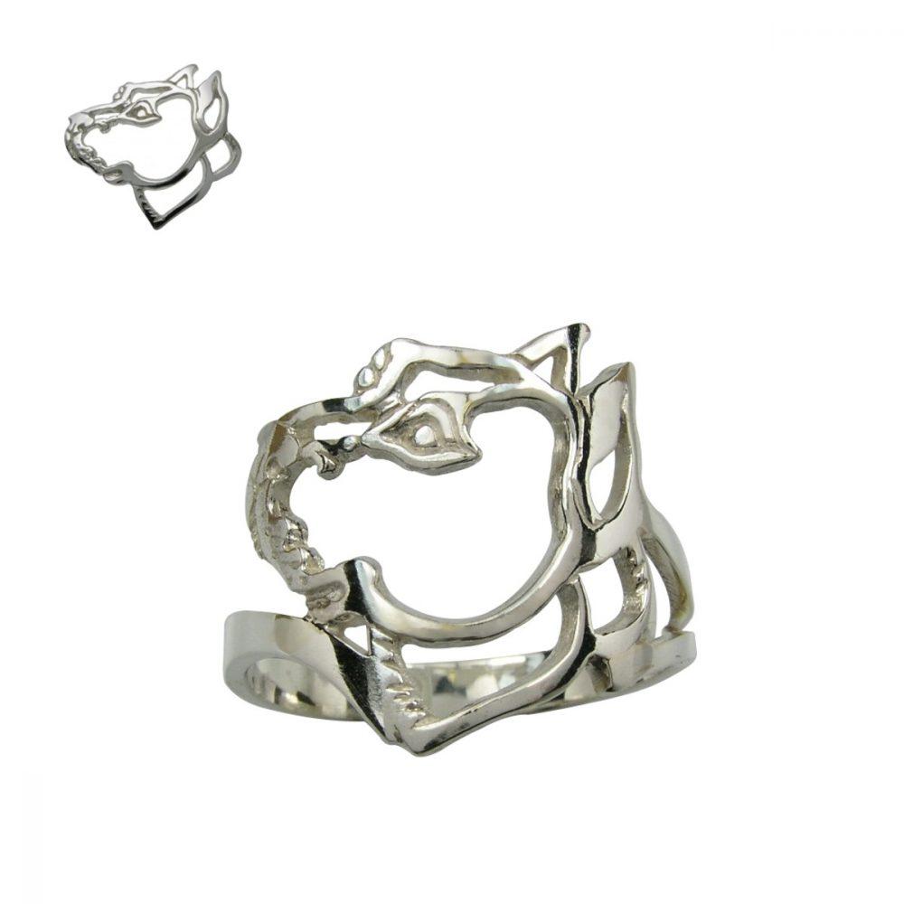 Americký pitbull teriér I – stříbrný prsten 925/1000 - 1