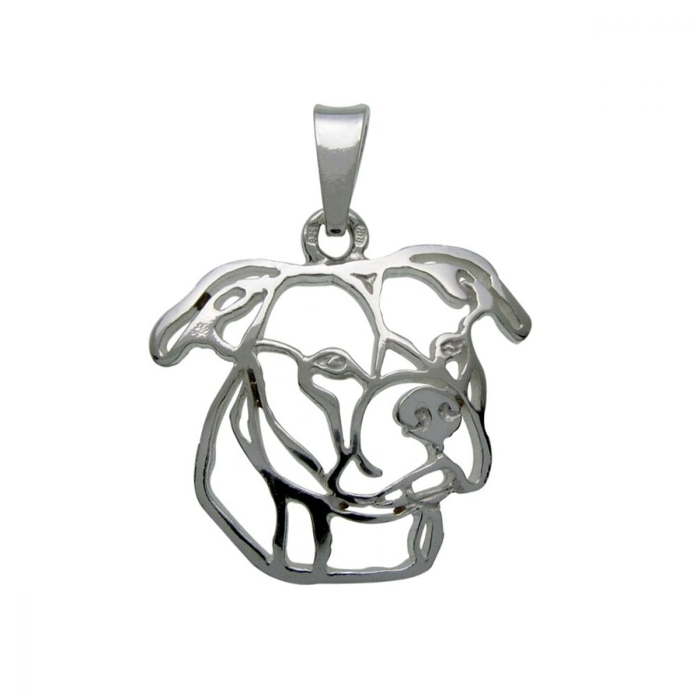 American Pit Bull Terrier II – silver sterling pendant - 1