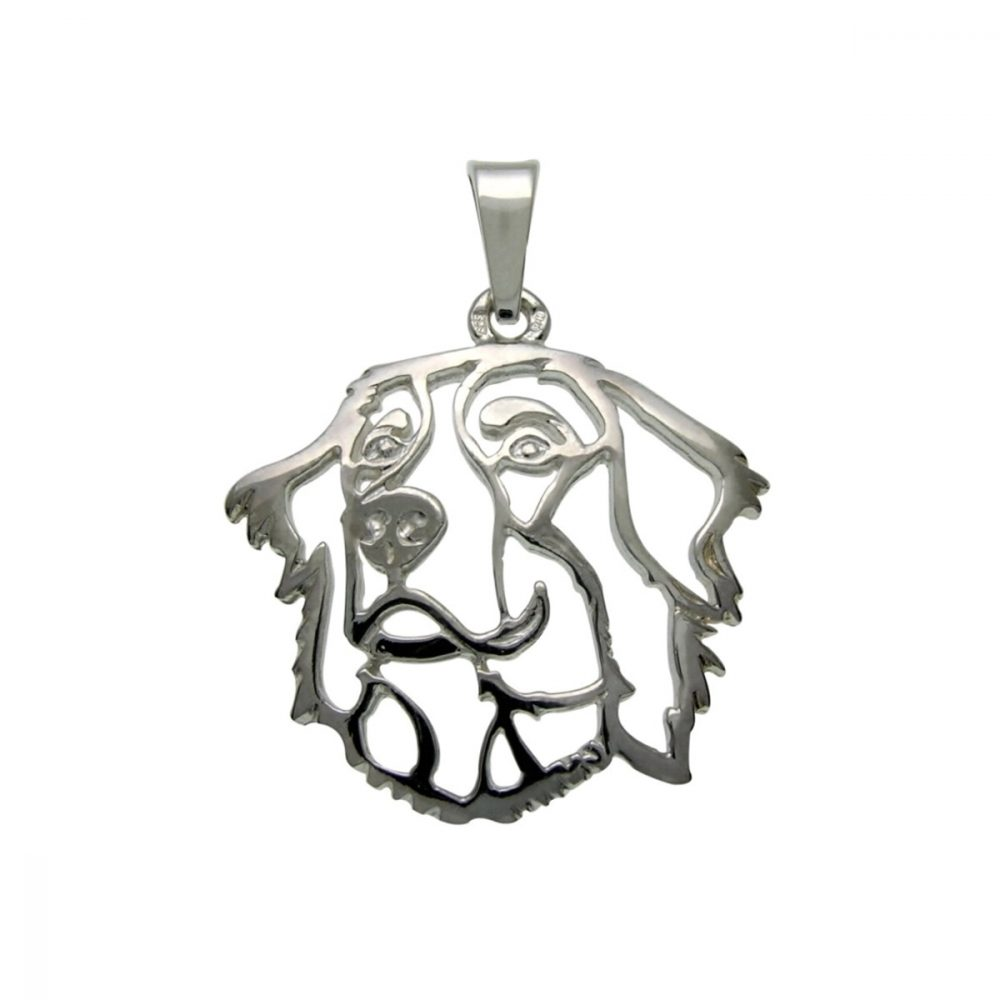 Bernese Mountain Dog – silver sterling pendant - 1