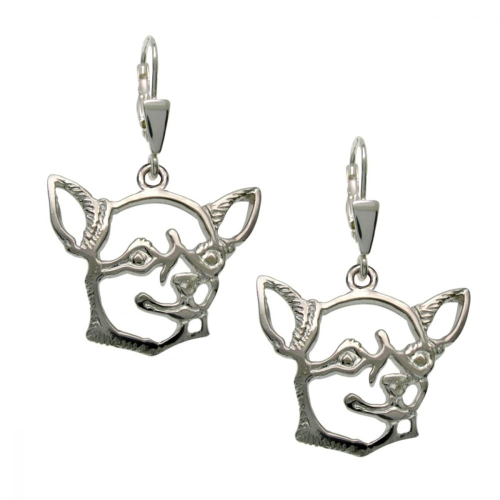 Chihuahua Shorthaired I. – silver sterling earrings - 1