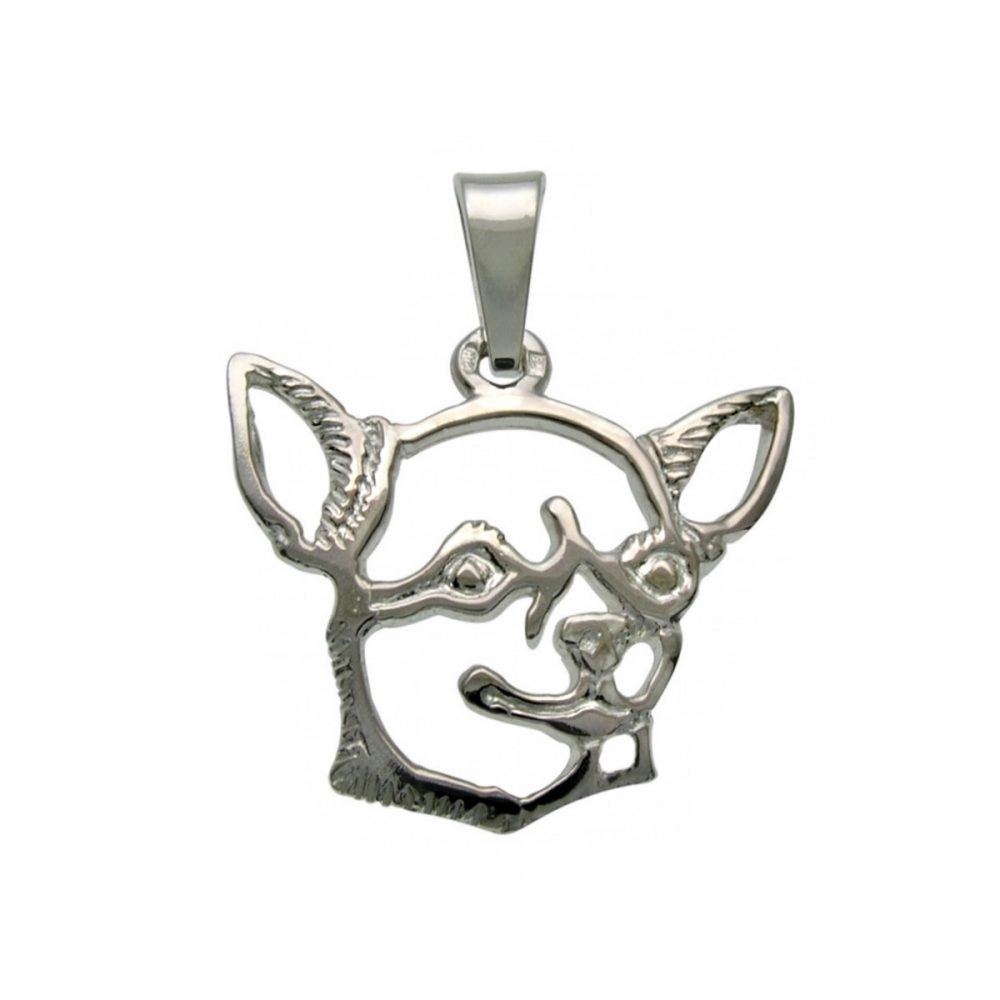 Chihuahua Shorthaired I. – silver sterling pendant - 1