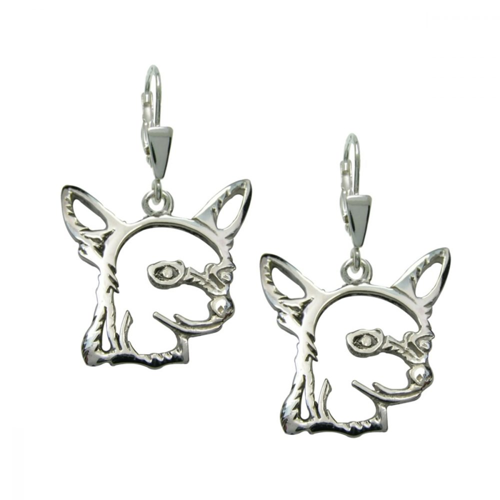 Chihuahua Shorthaired II. – silver sterling earrings - 1