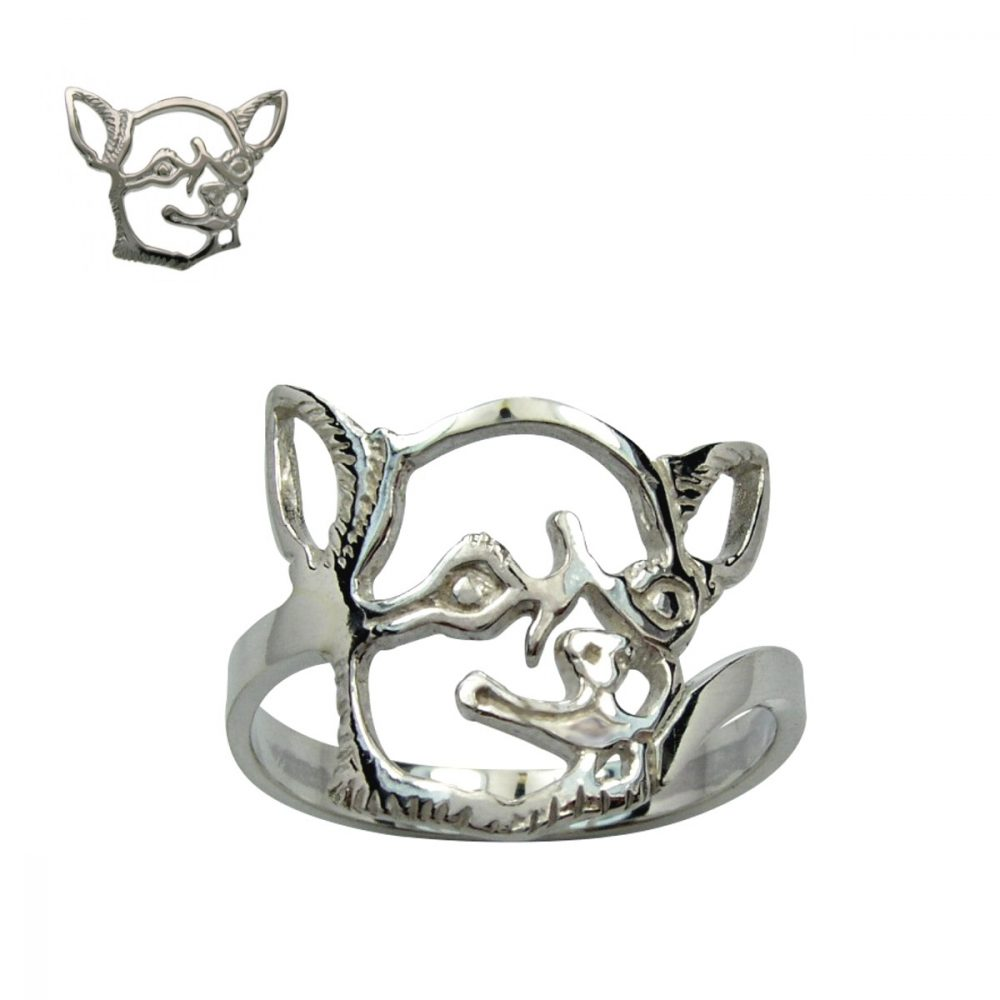 Chihuahua Shorthaired I. – silver sterling ring - 1