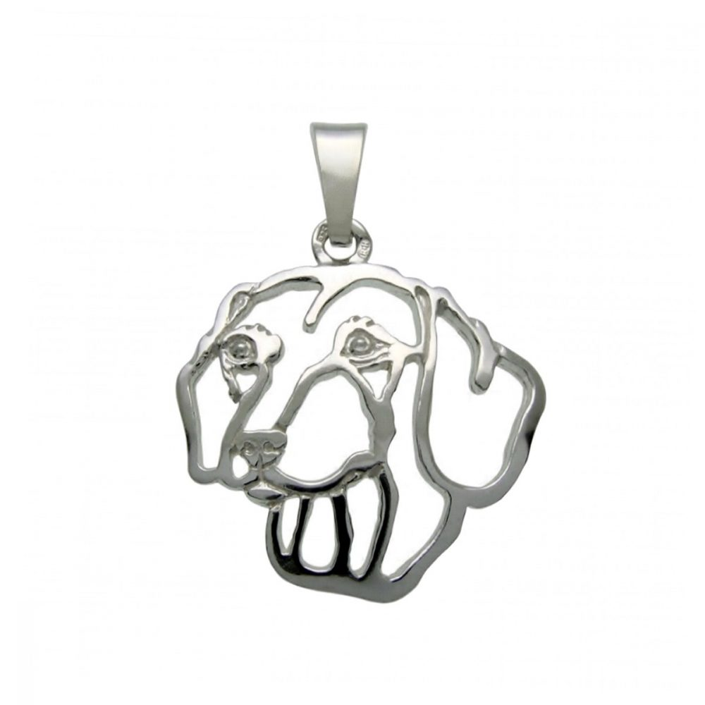Smooth Dachshund – silver sterling pendant - 1