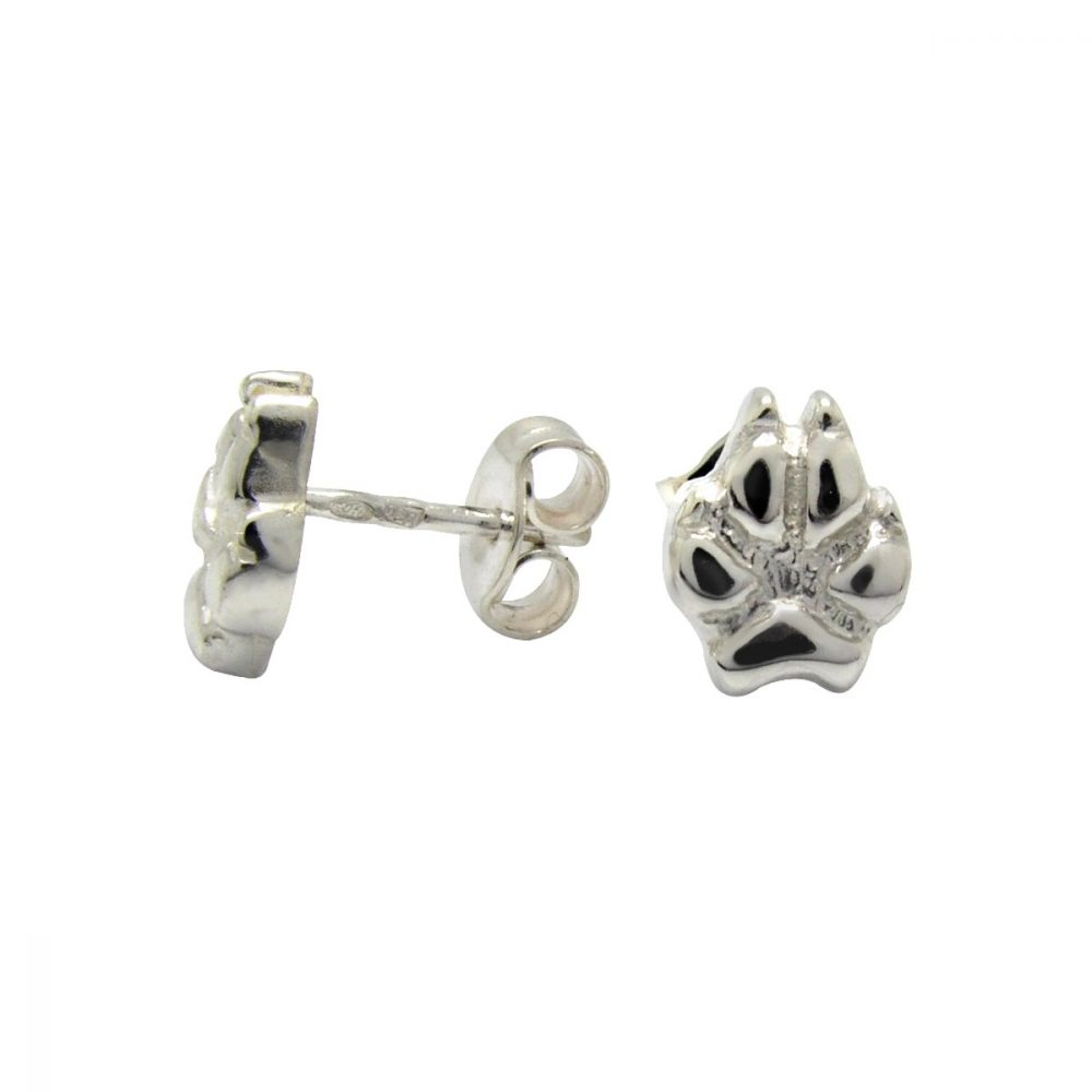 Paw M medium – dog – silver sterling earring - 1