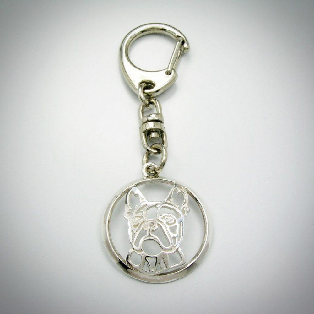 Bostonský teriér – klíčenka (kroužek) - 1