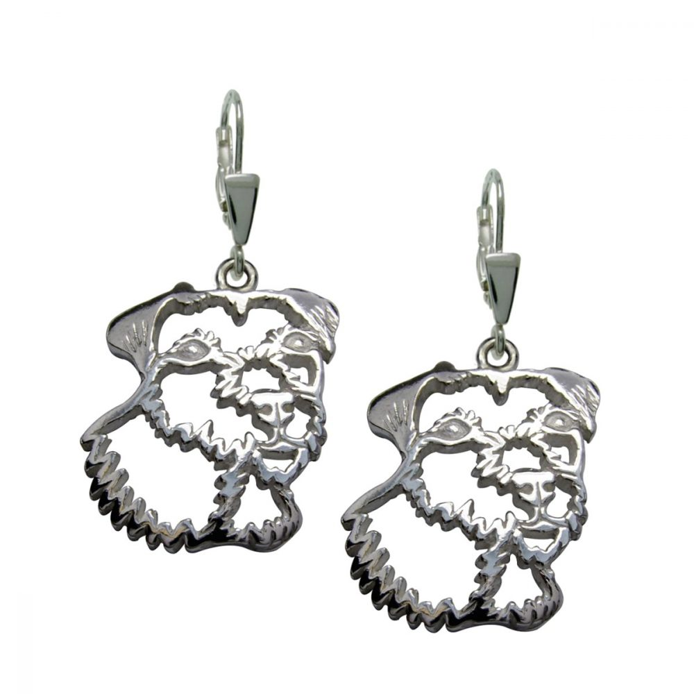 Parson Russel Terrier – silver sterling earrings - 1