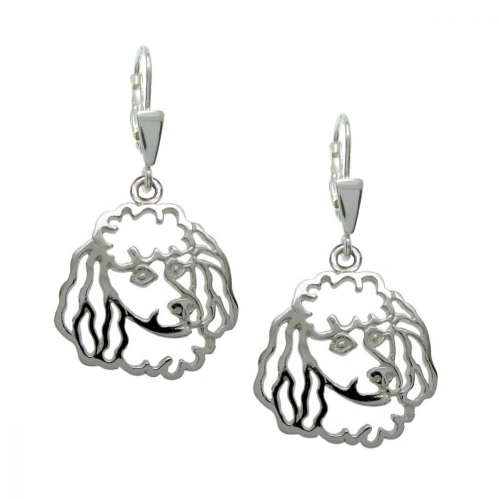 Poodle I – silver sterling earrings - 1
