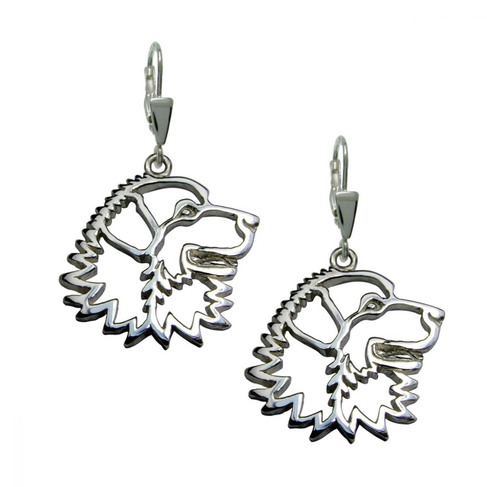 Pyrenean Mountain Dog – silver sterling earrings - 1