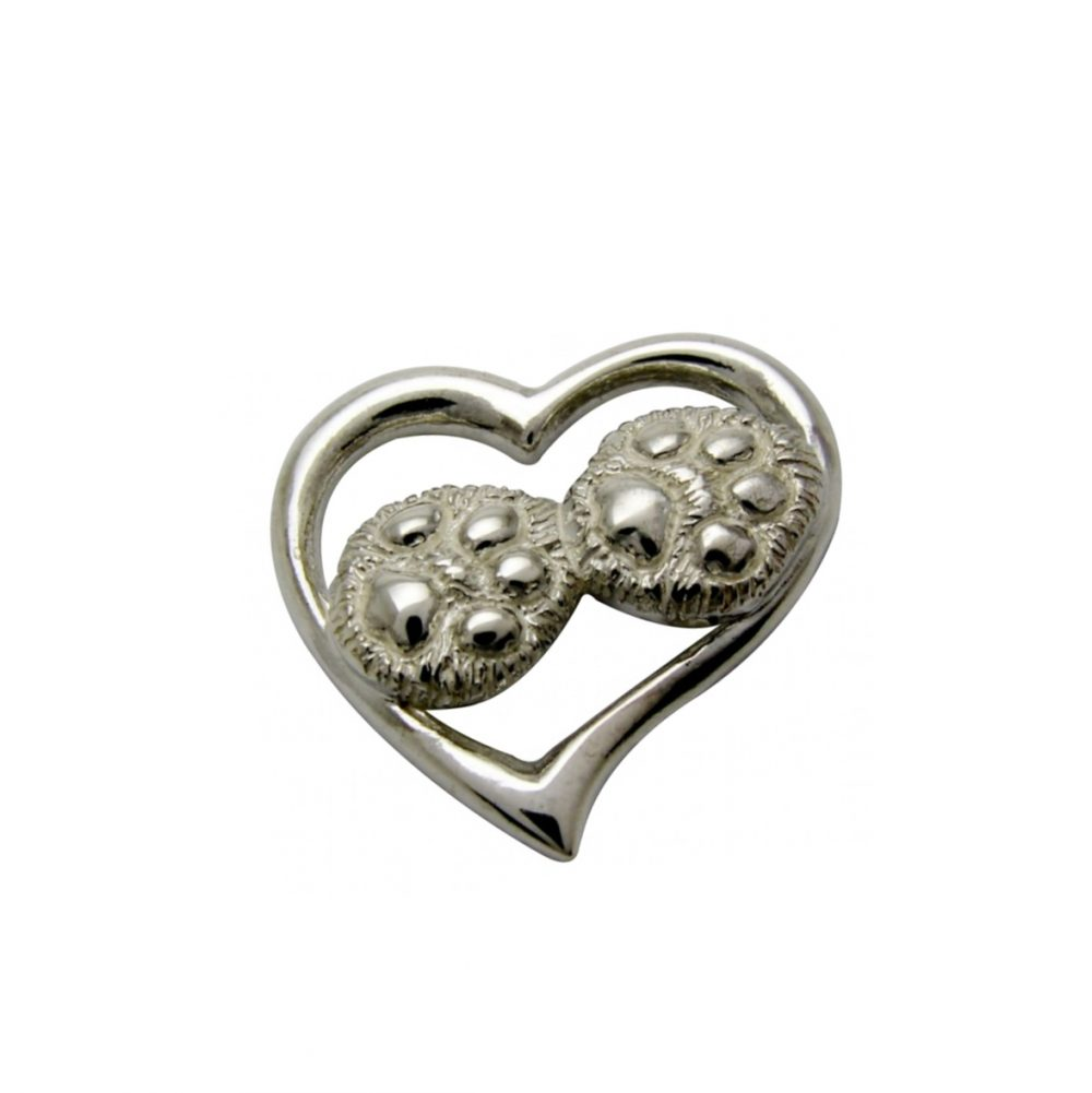 Silver paws cat – silver sterling pendant - 1