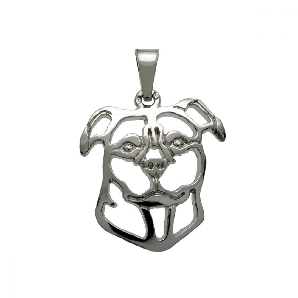 Stafordšírský bulteriér – stříbrný přívěšek 925/1000 - 1