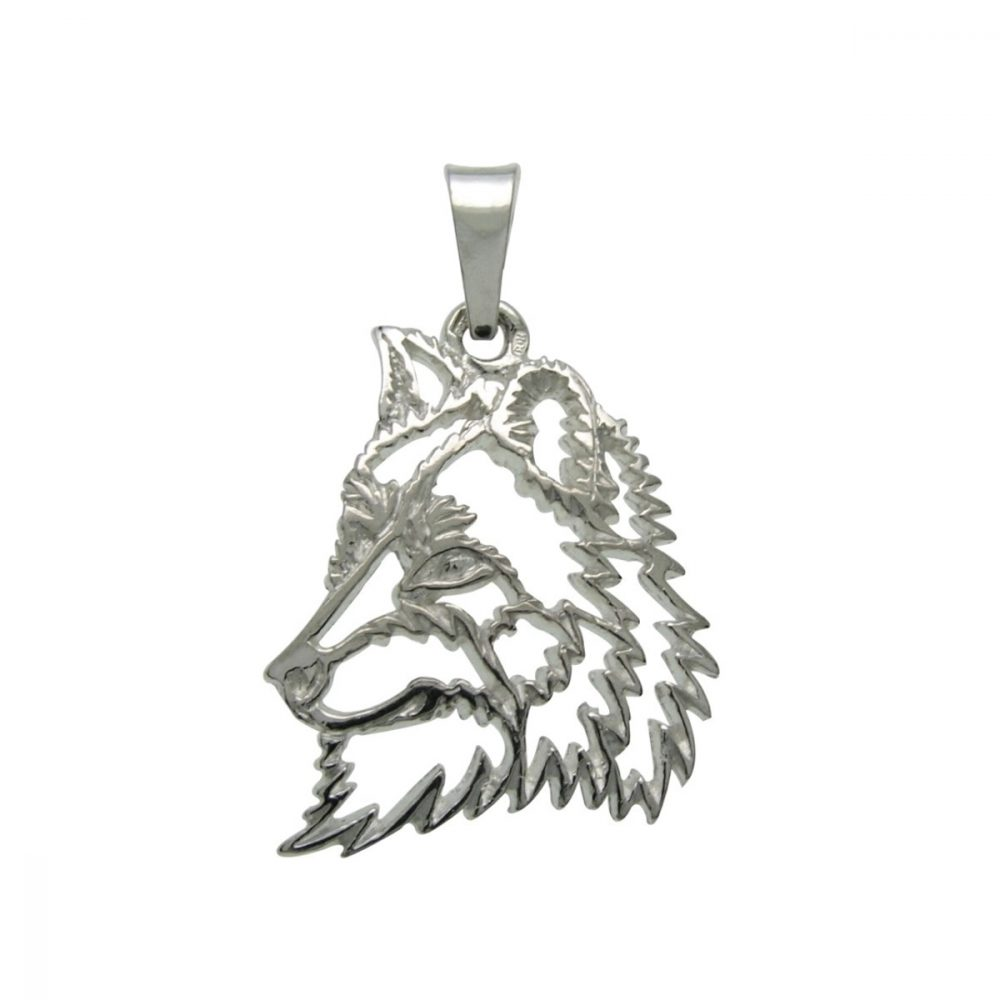 Wolf – silver sterling pendant - 1